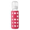Weego Baby Glass Bottles (BPA-Free) 9oz – Raspberry 1
