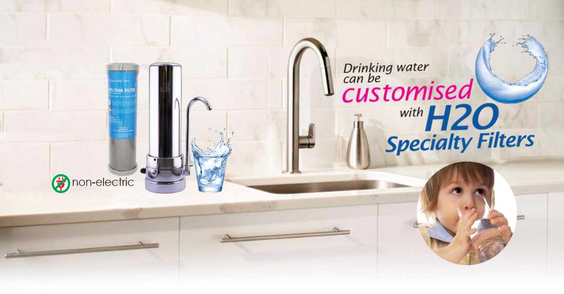 THM water filter with Single Versatile Housing