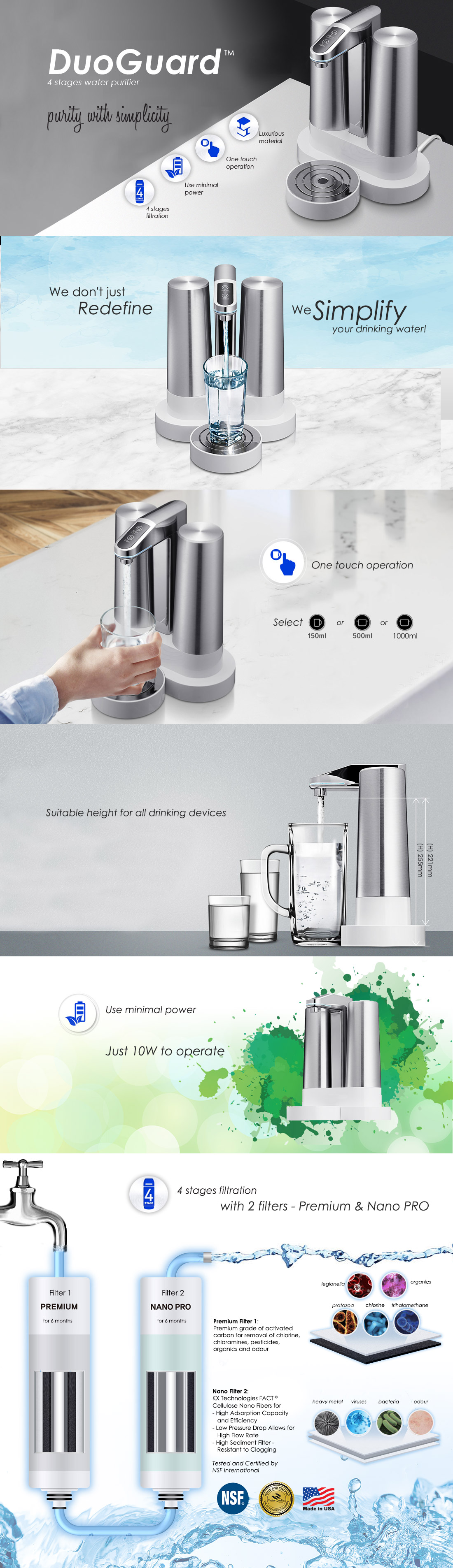 DuoGuard water filter and purifier